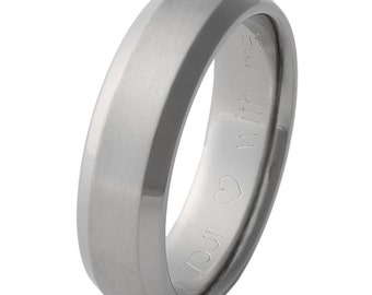 Titanium Wedding Band - Edgy n16