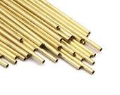2mm Brass Tubes Customize Size -24 Pcs Raw Brass Plain Tube Beads - 45mm-50mm-60mm-70mm-80mm-90mm -