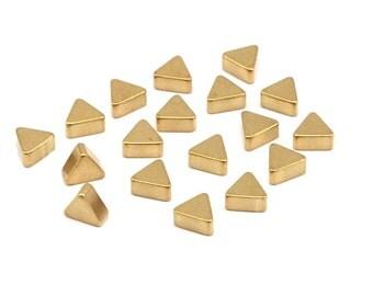 Brass Earring Finding, 24 Raw Brass Triangle Blanks (5.2x2.5mm) Y073