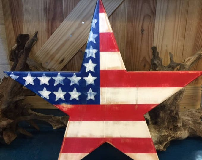 patriotic star ecofriendly art salvaged reclaimed wood beach home veterans military appreciation police USA Outer Banks BeachHouseDreams OBX