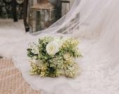 White Bridal Bouquet  CLOSEOUT Bridal Bouquets, wedding bouquets