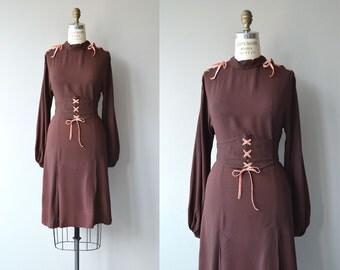 Fernweh dress | vintage 1930s dress | crepe 30s dress