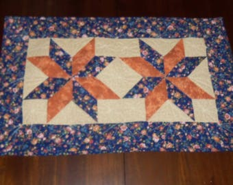 Quilted Table TopperTable Runner Fabric Centerpiece Machine 19x31 Inches