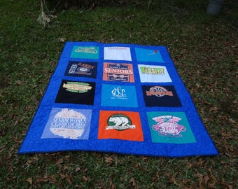 Custom Tshirt Memory Quilt with your choice of Tshirts