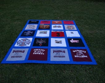 Memory Quilt out of 20 of Your Old Tshirts  Recycle and Go Green