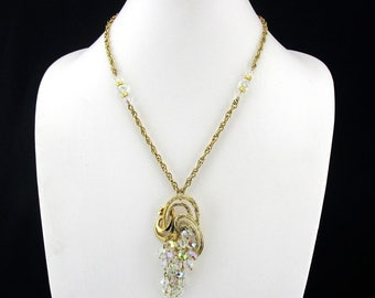 Necklace Crystal Grape Pendant Vintage