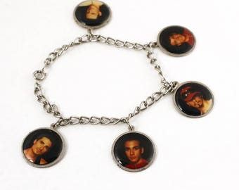 Vintage Backstreet Boys Charm Bracelet - Collectible Band Souvenir - Hey Viv