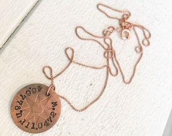 Compass Rose Pendant Necklace