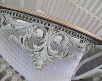 Vintage Shelf * Bed Crown * Shabby Chic * Paris Apt * French Cottage