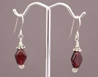 Wire-wrapped Garnet Earrings Item
