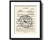 Blackbird by The Beatles Spiral Song Lyric Sheet Music Art Print, The Beatles Music Art Print, Spiral Words, Music Wall Art