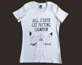 Women's T-Shirt - All State Cat Patting Champion