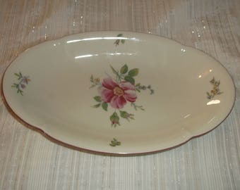"Konigl pr. Tettau Floral Serving Platter 10"" Bavarian China Germany"