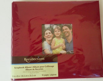 2 New Scrapbook Albums 8 x 8 Purple Red Top Loading Recollections 10 pages