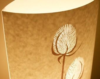 Tall oval teasel table lamp