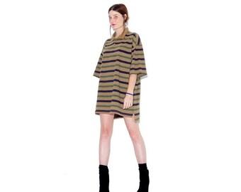 HURRY HALF OFF vintage striped shirt dress / oversized mens shirt dress oversized dress preppy striped polo shirt boyfriend shirt