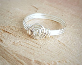 Wire Wrapped Ring - Silver   Wire Wrapped Ring - Wire Jewelry - Silver Wire Jewelry - Wire Jewellery -