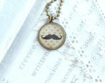 Handlebar Moustache Necklace Moustache Charm Necklace Vintage Style Necklace Moustache Jewelry