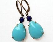 Clearance SALE 50% Off Blue Earrings Jewelry Estate Style Dangle MAYFAIR Blues