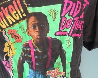 1991 Steve Urkel Vintage 90's Classic Sitcom Family Matters TV Show T-Shirt RARE