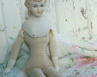 Vintage Antique Large Victorian Hand Painted Heirloom Doll