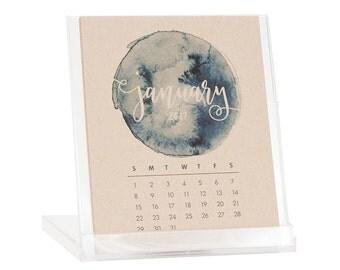 2018 Desk Calendar - BUY 2 GET 1 FREE - Calendar with Stand - Watercolor Calendar - Black Friday Cyber Monday Sale