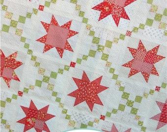 Sugar Pine Stars Quilt Paper Pattern