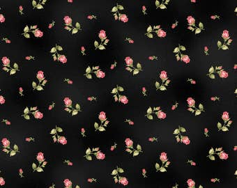 Black Flannel Fabric - Welcome Home - Maywood - F8363M-J