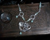 Lunar Mermaid Handcrafted Necklace and Earring Set