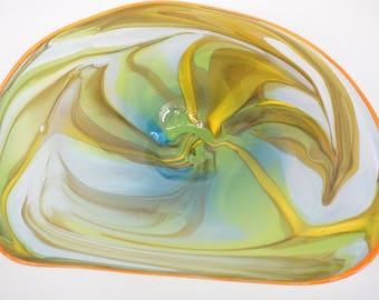 Wall Art Glass Blown Platter 640