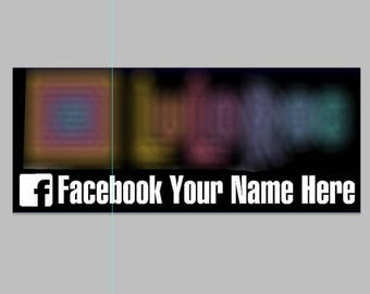 """Fashion Consultant Vinyl Graphic with Facebook Name or Wash Instructions - Size 4""""H x 8""""W (Bumper Sticker)"""
