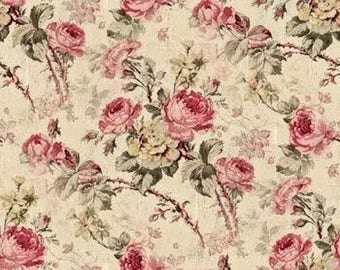 Dollhouse Miniature Shabby Chic Wallpaper Roses Victorian Floral 1:12