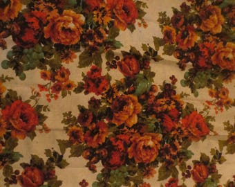 """Mid Century Retro Floor to Ceiling Curtains / 70s decor / floral Design / Pinch Pleated / 98"""" long"""