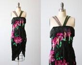Latin Ballroom Dancing Costume Dress / Salsa Dress / Robe Latine / Fringe and Sequins / Black Pink Green