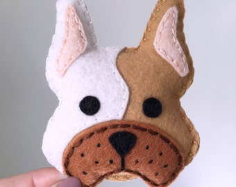 French bulldog plushie, Frenchie plush portrait, cute french bulldog, hand sewn, dog lovers gift, frenchie by HibouDesigns