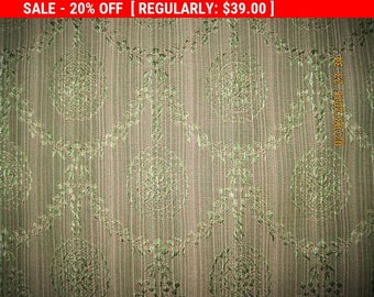 Antique Damask Fabric Silk French