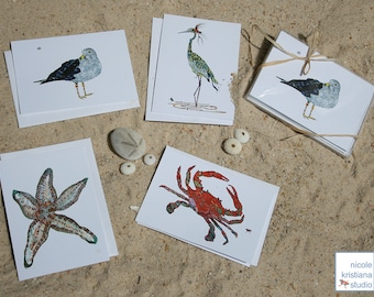 Bay Beach Note Card Set of 4, 8 or 12