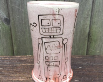 Tumbler With Girl and Robot