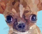 Chihuahua Print Pet Portrait Painting Dog Print Digital Painting  Nursery Decor Art Animal Wall Decor Home Decor Poster Christmas Gift