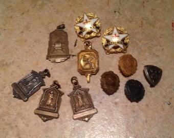 Instant Collection of Art Deco Award Charms and Pins