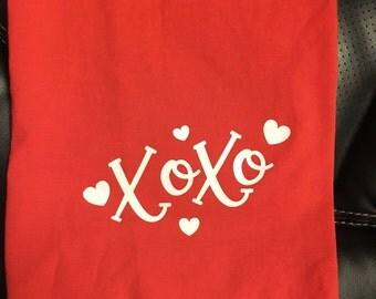 Xoxo flour sack dish towel, dish towel