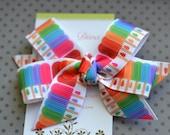 Rainbow Popsicles Classic Diva Bow