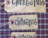 Special Listing for textilegoddess1 set of 3 Clothespins tags