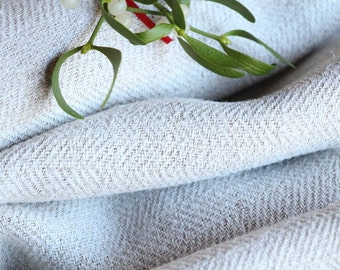 R 39:  handloomed antique linen plain,NATURAL CREAMY 4.91yards 리넨 french lin curtain panel;  wedding, tablecloth, upholstery, roman blinds