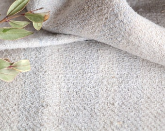 B 793 : antique handloomed FADED BABY BLUE 리넨 grain sack for pillows cushions runners upholstering projects 44.09 inches long