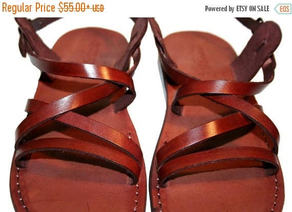 15% Off Brown Star Leather Sandals For Men & Women - Handmade Sandals, Leather Flats, Leather Flip Flops, Unisex Sandals, Brown Leather Sand