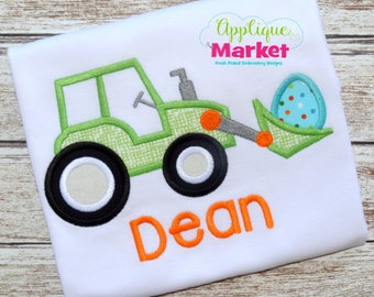 Machine Embroidery Design Embroidery Tractor Bucket Egg Applique INSTANT DOWNLOAD