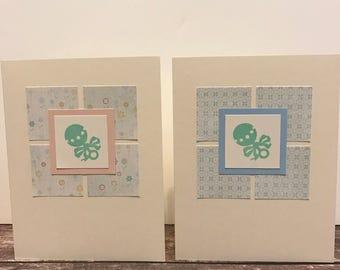 Set of 4 Baby Handmade Cards