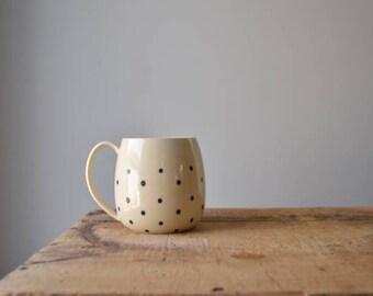 Wheel Thrown Coffee / Tea Mug in Dots MADE TO ORDER