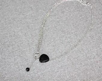 collier court, bijoux fantaisie, short necklace, collier, collier ajustable, noir, black, multi chaine, chain, classique, casual, cadeau
